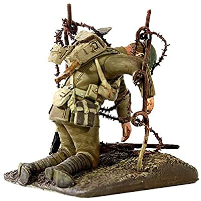 """W. Britain 23060 """"Hanging on the Old Barbed Wire"""" British Casualty Hanging on Barbed Wire in No Man's Land: Toys & Games"""