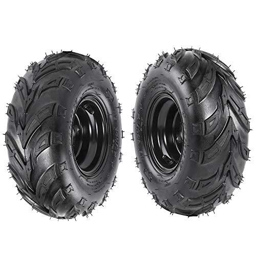 - TDPRO Set of Two 145/70-6 Tires Wheels ATV Go-Kart Mini Bike ATV Lawn Tubeless Tires