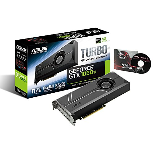 ASUS GeForce GTX 1080 TI 11GB Turbo Edition VR Ready 5K HD Gaming HDMI DisplayPort PC GDDR5X Graphics Card TURBO-GTX1080TI-11G by Asus (Image #5)