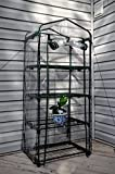 Frontier Outdoors 4-Tier Portable Mini Greenhouse - Green House Kit Includes Plant Labels, Guy Ropes, Stakes, Zip Ties to Secure Your Green House