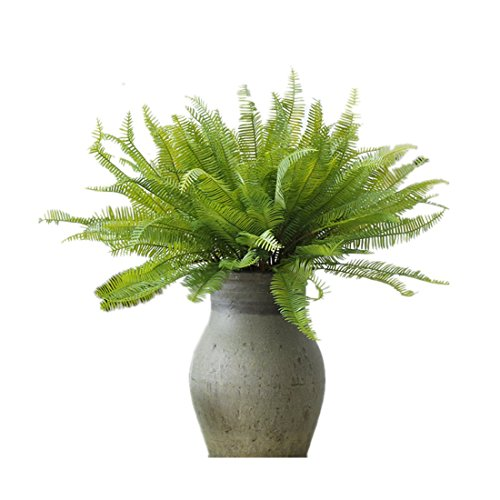 ASWCOWY 2 Air Plants Persian Leaf of Fake Fern Leaf House Plants Air Plants for Indoor Home Decor by ASWCOWY