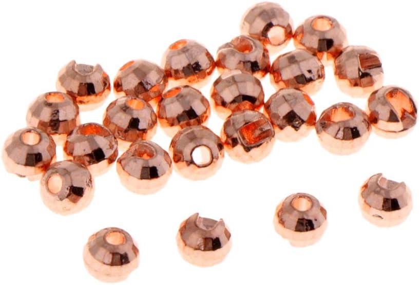 B Baosity 25pcs Tungsteno Ranurado Mosca Atar Perlas NINFA Cabeza Ojos Abalorios Bricolaje 3.5mm