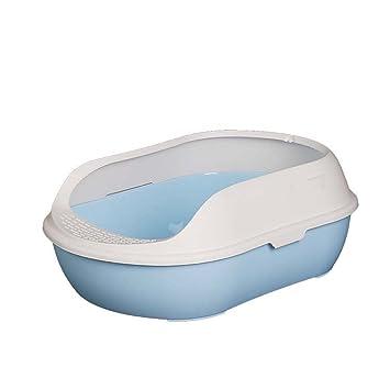 DSHBB Caja de Arena para Gatos, Inodoro Transparente para Gatos, Filtro para Inodoro para