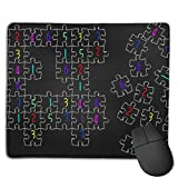Mouse Pad Sudoku Jigsaw Puzzle Pattern Rectangle Rubber Mousepad 8.66 X 7.09 Inch Gaming Mouse Pad with Black Lock Edge