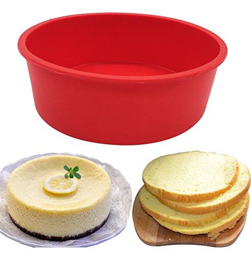 Baking Silicone 6.7-Inch Round Cake Pan Baking Mold, BPA Free, Non-Stick European-Grade Silicone, 6.7 x 2.16-Inches