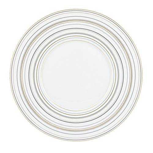 Raynaud Serenite Plate (10.75″/Dinner Plate, Platinum & Gold) (Raynaud Platinum Dish)