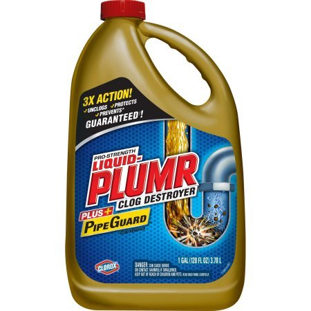 Liquid-Plumr Pro-Strength Drain Cleaning Clog Remover, Full Clog Destroyer, 128 oz - 1 Pack
