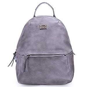 David Jones – Sac à Dos Femme Vintage Cuir PU – Sac à Main Porté Epaule Fille – Fashion Backpack Cartable Collège Cours…
