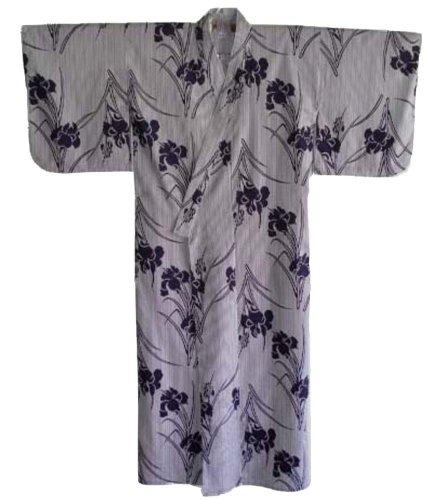 Cotton Iris Design Japanese Kimono TK276 ()