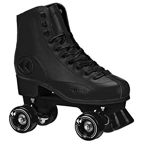 Roller Derby  Rewind Unisex Roller Skates (Size 08) - Black (Quad Skate Cushions)