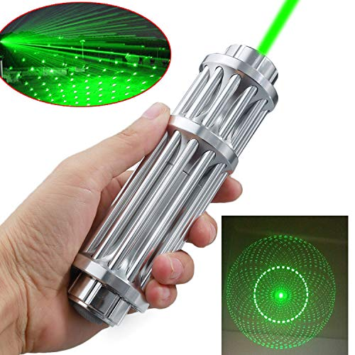 A Set of high Power Hand-held Green Light Focusing 532 nm Pointer Demonstration Flashlight, with The Most Suitable for Astronomy, Hunting, Camping Linear Beam Cap, with Gift Star Cap (Green Light)