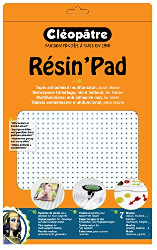 Cleopatra Resin' Pad Accessories Resins Worktop Silicone White 34x 22x 10cm (Resin Tray Doming)