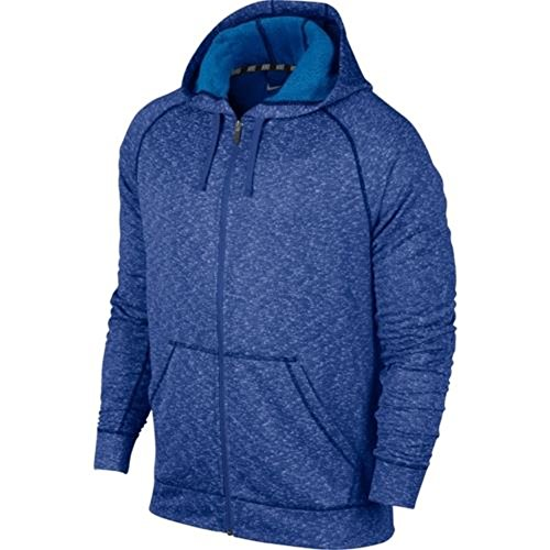 Nike Dri-fit ® French Terry con cappuccio e zip intera gioco blu royal Large