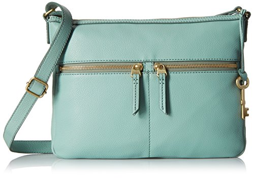 Fossil Erin Crossbody, Sea Glass, One - Leather Erin