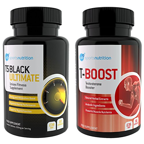 WBP Bodybuilding Pack - T5 Black Ultimate & T-Boost - Total Workout Support...