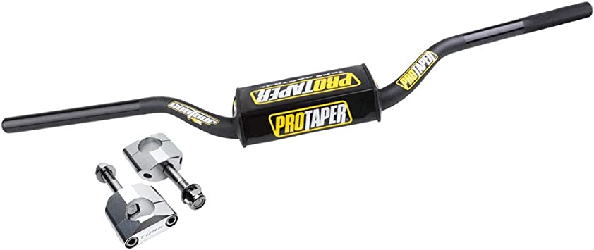 Black//One Size ProTaper Contour Bend CR Mid Off-Road Motorcycle Handlerbars