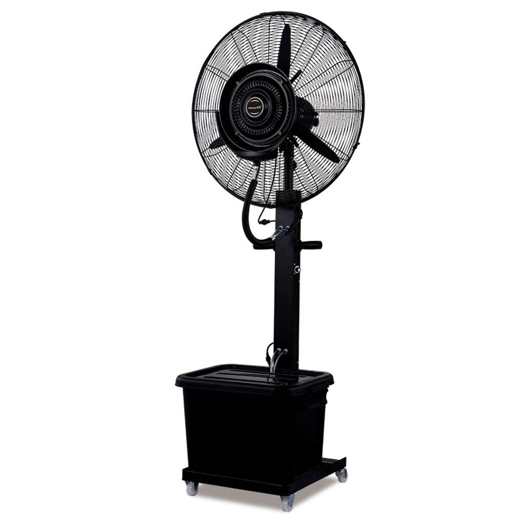 Misting Stand Fan High Power Industrial Oscillating Spray Humidification and Cooling Pedestal Fan Suitable for Shopping Mall Factory and Outdoor - 26'' 110V/60Hz by ZRN-Fan