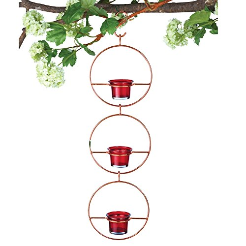 Hanging Glass Hummingbird Feeder Red