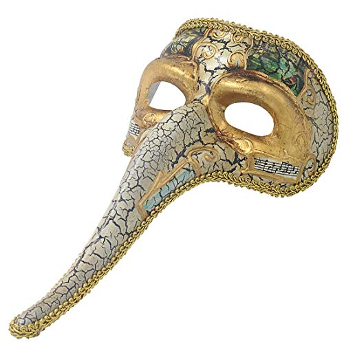 Hophen Venetian Long Nose Mask Ball Prom Mardi Gras Plague Doctor for Men Wall Decorative Art Collection Mask