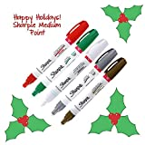 Sharpe Oil-Based Paint Markers, Medium Point, Pack of 5 - Christmas Holiday Colors