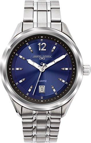 Jorg Gray Men's JG6100-12 Analog Display Quartz Silver Watch