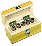 Palmgren 5 piece 2MT round collet set for 9684520 mill lathe combo