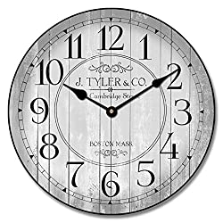 Harbor Gray Wall Clock, Available in 8 Sizes, Most Sizes Ship 2-3 Days,
