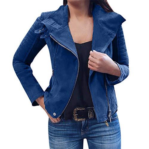 Womens Short Coat Laimeng_World Womens Ladies Retro Rivet Zipper Up Bomber Jacket Casual Coat Outwear