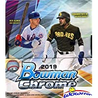 $149 » 2019 Bowman Chrome Baseball Factory Sealed HOBBY Box with TWO(2) AUTOGRAPHS! Look for RC's & Auto's of Pete Alonso, Vladimir Guerrero…