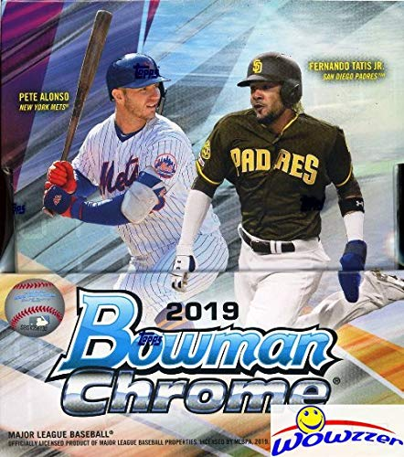 2019 Bowman Chrome Baseball Factory Sealed HOBBY Box with TWO(2) AUTOGRAPHS! Look for RC's & Auto's of Pete Alonso, Vladimir Guerrero Jr, Wander Franco, Joey Bart, Eloy Jimenez & Many More! WOWZZER! from Wowzzer