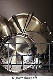 All-Clad 41126 Stainless Steel Tri-Ply Bonded Dishwasher Safe Fry Pan with Lid / Cookware, 12-Inch, Silver