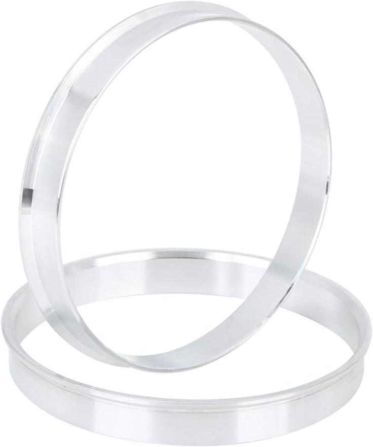 X AUTOHAUX 4pcs 72.6 to 70.1 mm Aluminium Alloy Car Hub Centric Rings Wheel Bore Spacer