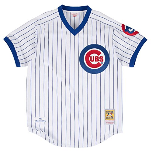 Mitchell & Ness Ryne Sandberg Chicago Cubs Authentic MLB 1987 Pullover Jersey