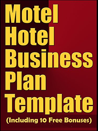 AmazonCom Motel Hotel Business Plan Template Including  Free