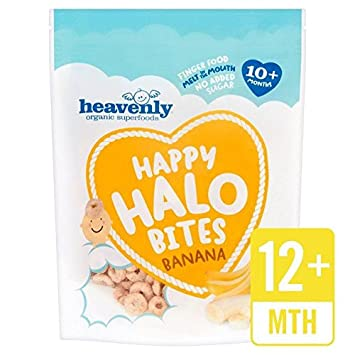 Heavenly Organic Happy Halo Bites Banana - 60g (0.13lbs)