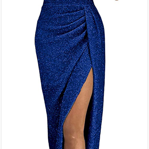 Baivin Hautes Manches 4 Bustier Taille Blue Sexy Jupe 3 Robe Flash Haute Fentes qSzVGpUM