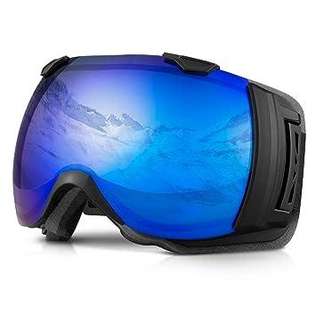 efa0e0498e490 Terra Hiker Masque de Ski Lunettes de Ski Large Vision pour Homme ...
