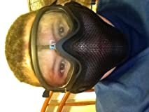 This face mask is well worth the money and fits well looks very clear and is good for a starter airsofter and will protect you