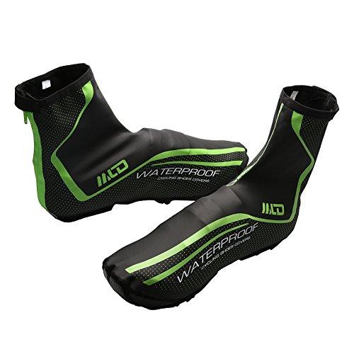 Fundas de neoppreno West Biking para calzado para hombre West Biking, resistente al viento, al agua, térmicos, color negro Black Green