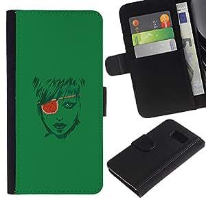 "A-type (Pirate Girl"") Colorida Impresión Funda Cuero Monedero Caja Bolsa Cubierta Caja Piel Card Slots Para Sony Xperia Z3 Compact / Z3 Mini (Not Z3)"