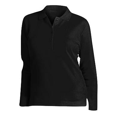 SOL S Womens Ladies Podium Long Sleeve Pique Cotton Polo Shirt at ... b3f5848e4ca2