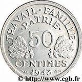 1943 French 50 Centimes %2D%2D Nazi Germ
