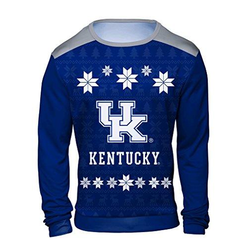 Klew Adult Men UglySweater, Blue, X-Large
