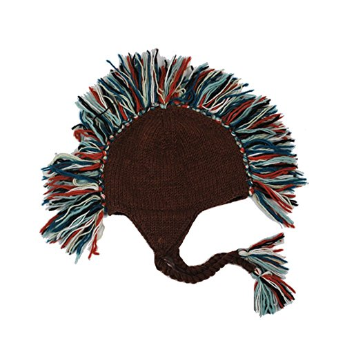 Lakhays Mohawk hat-Brown-One Size