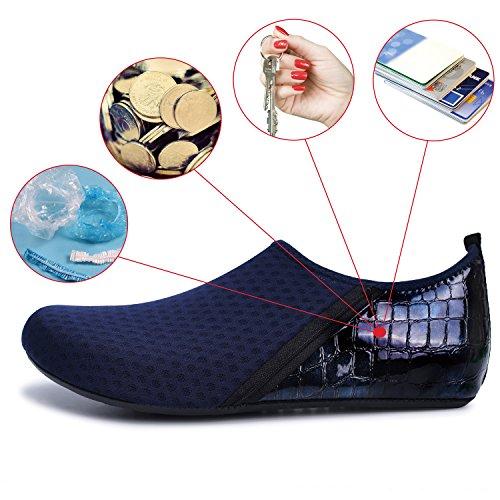 Pocket Shoes Women's Kid Socks Dry Aqua Men's Water Dark Barefoot Swim Quick Blue Footwear Shoe JOINFREE Summer Yoga YgExZqwZd