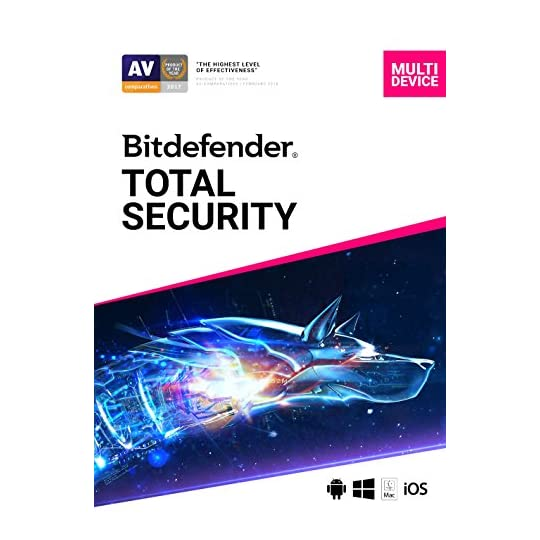 Bitdefender Total Security – 5 Devices | 1 year Subscription | PC/Mac | Activation Code by email