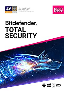 Bitdefender Total Security - 5 Devices | 1 year Subscription | PC/Mac | Activation Code by email (B07CYFFH4H) | Amazon price tracker / tracking, Amazon price history charts, Amazon price watches, Amazon price drop alerts