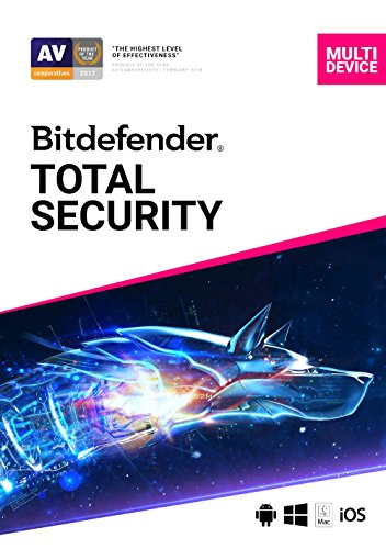 Bitdefender Total Security - 5 Devices | 1 year Subscription | PC/Mac | Activation Code by email (Best Laptop For Cyber Security 2019)