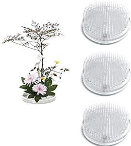 3 Pcs Clear Japanese Floral Frogs, 2.76