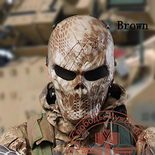 Airsoft Paintball Camouflage Python Skull Mask Protective Mask CS Full Face Protective Mask - Airsoft Camo Paint